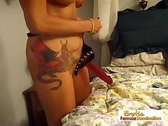 Horny Bitch Likes To Dominate Her Man tube porn video