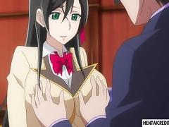 Hentai schoolgirl gets gangbanged tube porn video