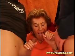 my grandmas first gangbang tube porn video