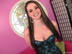 Huge cocks never fail to put a smile on this slut's face tube porn video