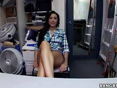 Stunning Brunette In Short Riding A Huge Dick Doggystyle tube porn video