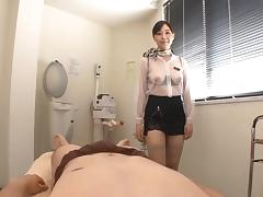 Japanese escort uses oil and blowjobs to please her clients tube porn video