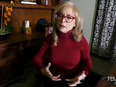 Nina Hartley BTS interview tube porn video