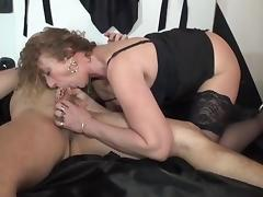 Sophie 50 years old fucked in stockings tube porn video