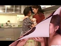 Japanese Lesbian Sucking Big Tits 7 tube porn video