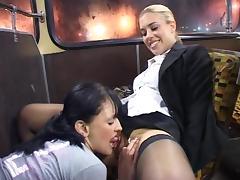 Kinky British Lesbians tube porn video