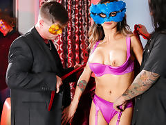 Nadia Styles & Eric Masterson & Barret Blade & Big Chief 1/4 Black in Masquerading Nympho Video tube porn video