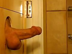 SAN DIEGO--ITALIAN HUNK UNLOADS AT THE GLORYHOLE tube porn video