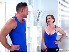 A brunette enjoys hardcore doggystyle pounding by a vibrant dude with tattoos tube porn video