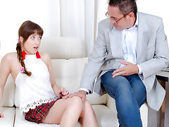 TrickyOldTeacher - Redhead cutie has been dreaming about being seduced and fucked by old math teacher tube porn video