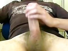 Sweet BF is masturbating in a small room and filming himself on webcam tube porn video