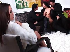 Jennifer Dark & Renee Perez in foursome tube porn video
