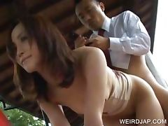 Asian banged by dude on the phone tube porn video
