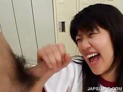 Teen japanese sucking hairy penis tube porn video