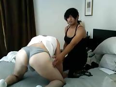 Crossdressing with my friend tube porn video