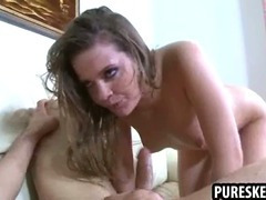 Sexy brunette honey sucking and fucking a hard cock tube porn video