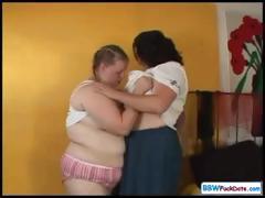 Fat Lesbian Girls Playing tube porn video