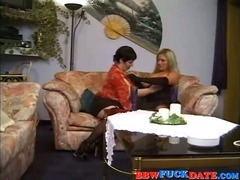 Vintage 3way with two fat woman and one lucky guy tube porn video