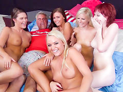 Elaina Raye, Abby Cross, Alexis Monroe, Whitney Westgate, Zoey Nixon in Five Floozy Females Fuck For Fun Video tube porn video