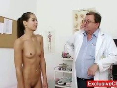 Petite latina Ferrera Gomez pussy checkup up close tube porn video