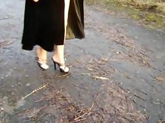 Toeless pantyhose worn outdoors (Scotland) tube porn video