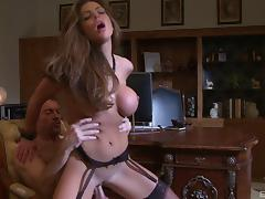 Chesty MILF makes a nerdy guy's day by fucking him tube porn video