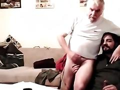 Grandpa and younger play on cam tube porn video
