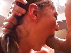 Brandi deep throat threesome tube porn video