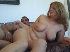 Older woman sucks and fucks younger man tube porn video