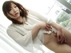 Astonishing Japanese tranny strokes the dick in the early morning tube porn video