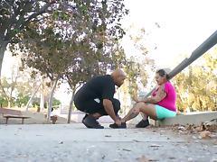 Black pregnant BBW follows him to a hotel to fuck tube porn video