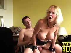 Granny gets drilled while handcuffed tube porn video