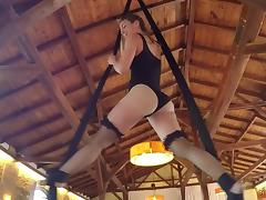 Gymnast puts on a show and gets fucked in her perfect pussy tube porn video
