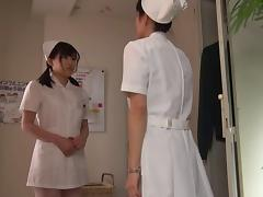Old guy fucks a cute Japanese nurse in the hospital tube porn video