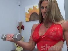 Sexy Latina Bodybuilder Maria G tube porn video