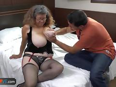 AgedLove chubby mature is fucking on bed tube porn video