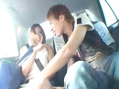 Sucking and fucking in public drives Akari Asahina wild tube porn video
