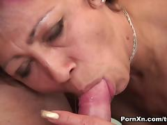 Mili in Colorful Grandma Gets Banged In Her Shaved Big Pussy - PornXn tube porn video