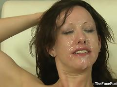 Jennifer White gets her face covered in cum tube porn video