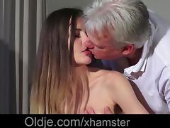 Grandpa Pussy Fucking Teen Pierced Tongue Facial Cumshot tube porn video