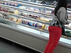 Mature latina at supermarket tube porn video