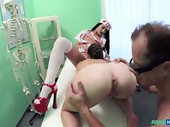 Tiffany in Patient shares doctors cock with halloween zombie nurse - FakeHospital tube porn video