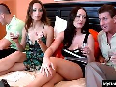 Amber Rayne and Melissa Lauren take off their panties tube porn video