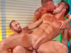 Fabio Stallone & Tomas Brand & Logan Rogue in Stripped 2: Hard For The Money, Scene #01 tube porn video