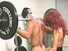 Fucking in the gym while wearing masks on their faces tube porn video