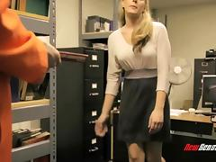 In the library at a prison she ends up fucking one of the inmates tube porn video