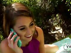 Riley Reid moaning at her neighbours BBC tube porn video