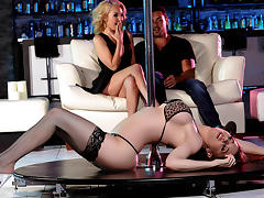 Aaliyah Love & Veronica Vain & Ryan Driller in Pole Skills and Holes Filled - Brazzers tube porn video