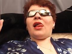 Fat russian mature masturbates tube porn video