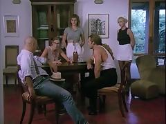 Foursome on the dining table tube porn video